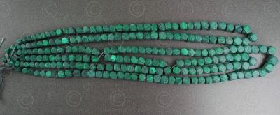 Malachite beads NBD1. India.