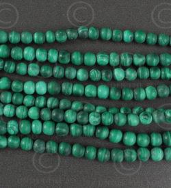 Malachite beads NBD2. India