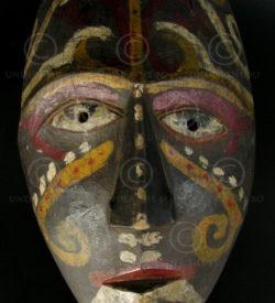 Masque Kenyah-Kayan KK1. Est Bornéo, Indonésie-Malaisie
