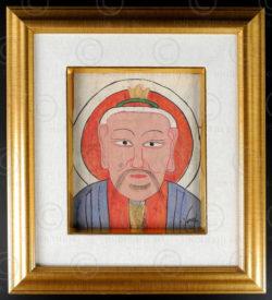 Masque papier Yao YA143B. Minorité Yao Lantien, sud de la Chine ou Laos.