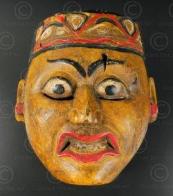 Masque topeng de Surakarta ID80. Région de Surakarta (Solo), île de Java-Centre,