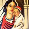 Indian paintings InP3. Pair of church panels, 1940s, Tamara de Lempika style