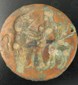 Médaillon bronze Bactriane 13SH38A. Afghanistan, royaume de Bactriane.
