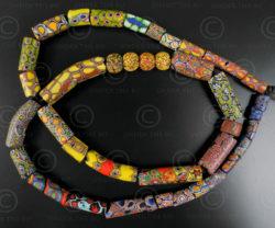 Millefiori glass beads BD66, Mauritania