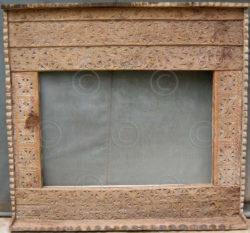 Mirror frame MF11. Cedar wood carvings. Pakistan.