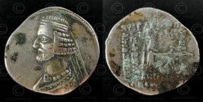 Parthian silver coin C264. Parthian Empire.