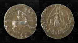 Monnaie Bactriane argent C304. Royaume indo-grec de Bactriane.