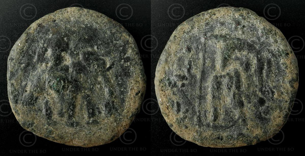Monnaie kouchane bronze C205A. Empire Kouchan.