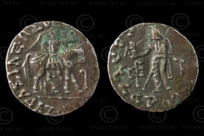 Monnaie Indo-Scythe C197. Drachme d'argent. Royaumes Indo-Scythes - Gandhara.