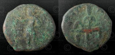 Monnaie kouchane bronze C130B. Empire Kouchan.