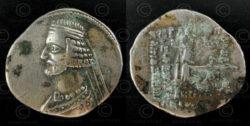 Monnaie parthe argent C264. Empire parthe.