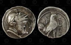 Monnaie Bactriane argent C308. Royaume pré-séleucide de Bactriane.