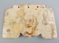 Monnaie chinoise jade C99. Culture Liangzhu, Chine archaïque.