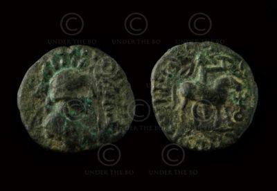 Monnaie kouchane C262H. Vima Takto (circa 80 - 100 ap. J-C). Empire Kouchan.