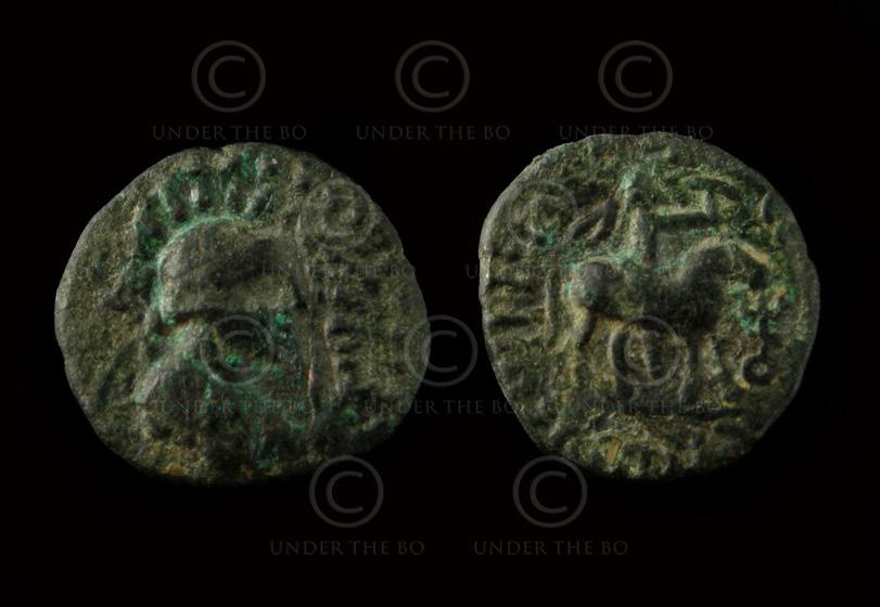 Monnaie kouchane C262H. Vima Takto (circa 80 – 100 ap. J-C). Empire Kouchan.