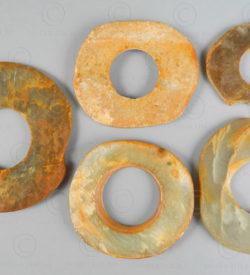 Monnaies chinoises jade C97. Chine néolithique.
