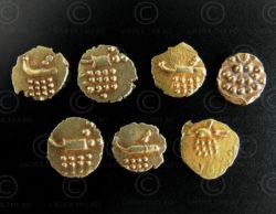 Monnaies or Kerala C323. Cochin, Etats Princiers (Kerala), Inde du sud