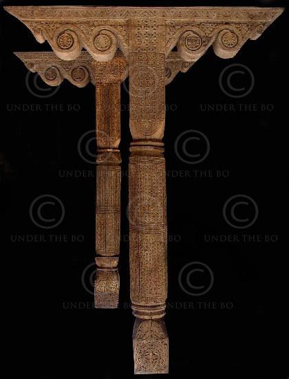 Monumental columns FC57. Kalam valley, Northen Pakistan