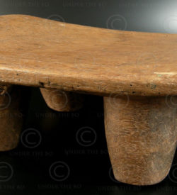 Mossi African stool AF67A. Mossi culture, Burkina Faso, West Africa.