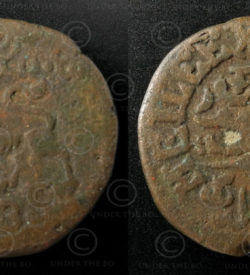 Mysore bronze coin C149B. Kingdom of Mysore, South India.