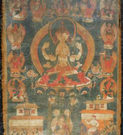 Newari thangka NT13, Nepali paubha, Kathmandu valley, Nepal