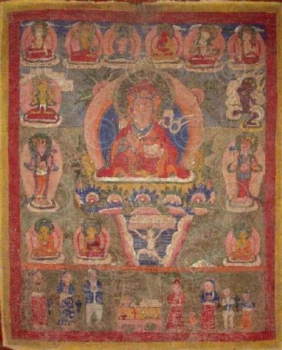 Newari Buddha Amitabha paubha or thangka, Nepal