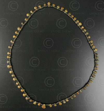 Orissa bronze necklace 187B. Kondh tribal culture, Orisha, India.