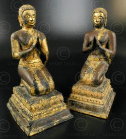 Pair Buddha attendants T388. Ratanakosin period (early Bangkok), Thailand.