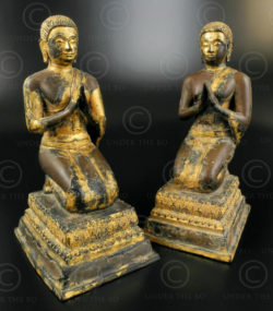 Pair Buddha attendants T388. Ratanakosin period (early Bangkok), Thailand.