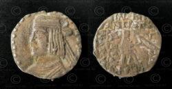 Parthian silver coin C267. Parthian Empire.