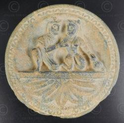 Palette indo-parthe schiste gris PK194B. Ancien royaume de Gandhara (Pakistan).