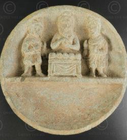 Palette indo-parthe schiste gris PK195A. Ancien royaume de Gandhara (Pakistan).