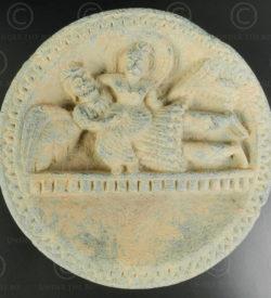 Palette indo-parthe schiste gris PK195B. Ancien royaume de Gandhara (Pakistan).