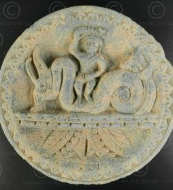 Palette indo-parthe schiste gris PK195D. Ancien royaume de Gandhara (Pakistan).