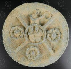 Palette indo-parthe schiste gris PK195E. Ancien royaume de Gandhara (Pakistan).