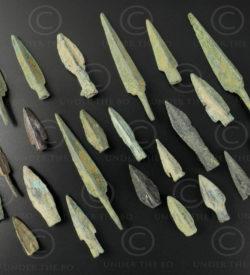 Parthian bronze arrowheads AFG92A. Indo-Parthian Kingdom, sourced in Afghanistan