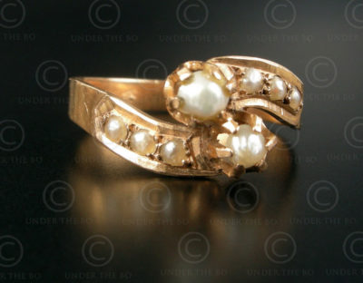 Pearls gold ring R267. France.