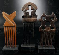 Peignes africains 12UZ1B. Culture Baoulé et Ashanti, Côte d'Ivoire, Afrique de l