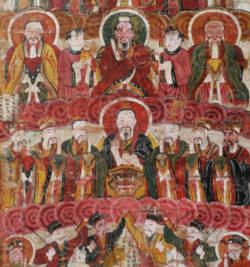 Peinture Ancêtres Zhuang YA135. Minorité Zhuang, province du Guangxi, sud de la