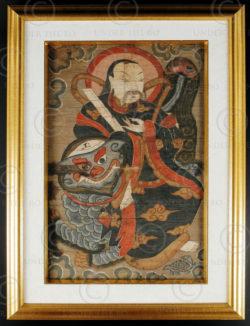 Peinture Yao Lantien encadrée YA134C. Minorité Yao Lantien, sud de la Chine ou L