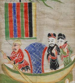 Peinture Yao encadrée YA31. Minorité Yao Lantien, Chine du sud ou Laos.