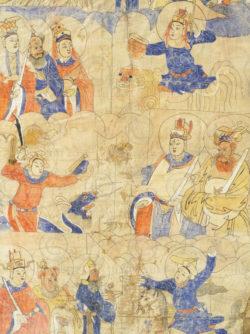 Peinture Zhuang encadrée C39A. Minorité Zhuang, province du Guangxi, sud de la C