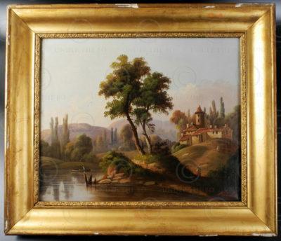 Peinture francaise FR9A. Signée Alexandre. Ecole française.