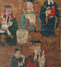 Peinture taoïste Zhuang C67. Minorité Zhuang, province du Guangxi, sud de la Chi