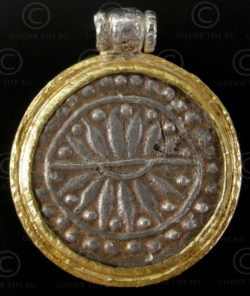 Pendentif monnaie Pyu P192. Période Pyu, 6-8ème siècle, Birmanie.