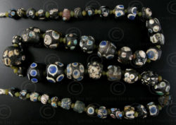 Perles verre antiques SH43. Afghanistan.