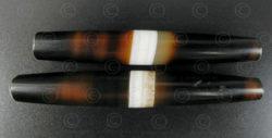 Perles agate à bandes BD276. Trouvée en Afghanistan.