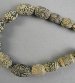 Perles antiques yeux romains BD281. Trouvées au Mali, Afrique de l'ouest.