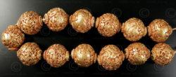 Perles bouddhistes ciselées BD121D. Faites à la main au Népal.