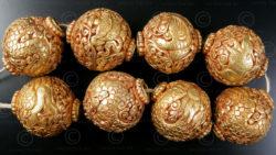 Perles bouddhistes ciselées BD121F. Faites à la main au Népal.